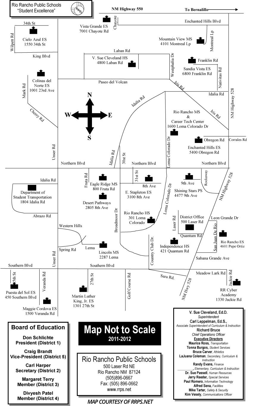 Rio Rancho Public Schools Map